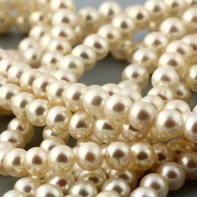 Joopy Gems White Cultured Freshwater Round Pearls 6-6.5mm full strand
