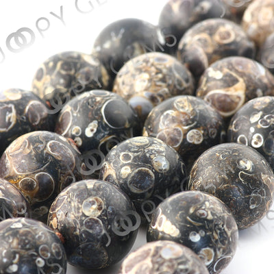 Joopy Gems Turritella Agate Beads, matt finish, 19-20mm, LOOSE BEADS