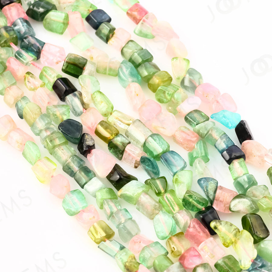 Tourmaline Nugget Beads, 4-8mm long approx, A Grade FULL STRAND