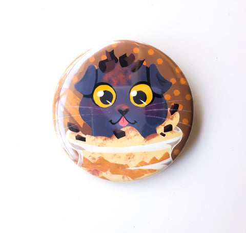 Tiramisu Cat Button