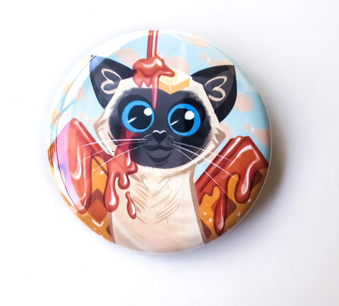 Waffle Cat Button
