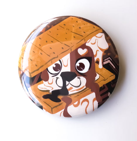 Smores Dog Button