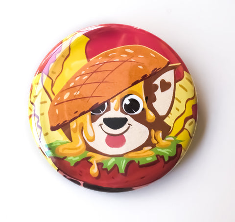 Burger Dog Button