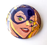 Bat Girl Button