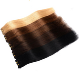 Brazilian Machine Made Remy Hair Natural Straight Clip