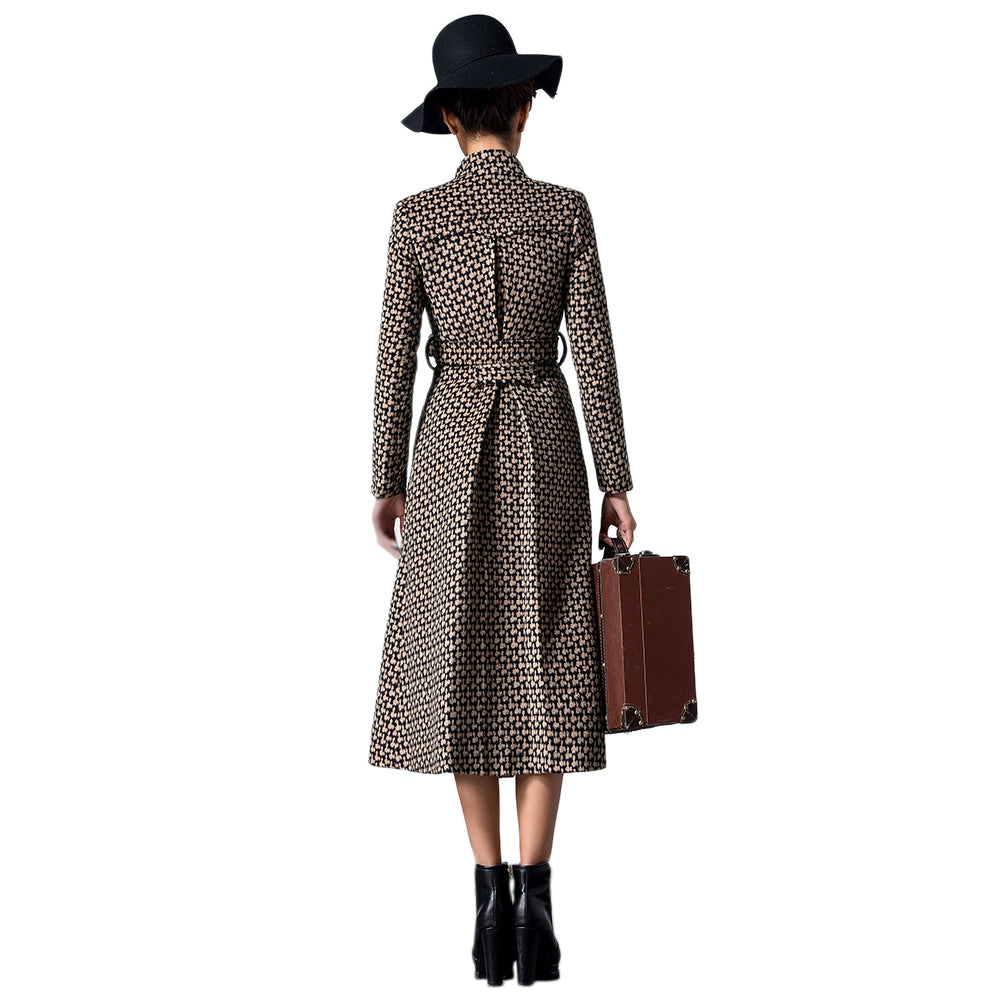 Stand-up Collar Coat with Belt