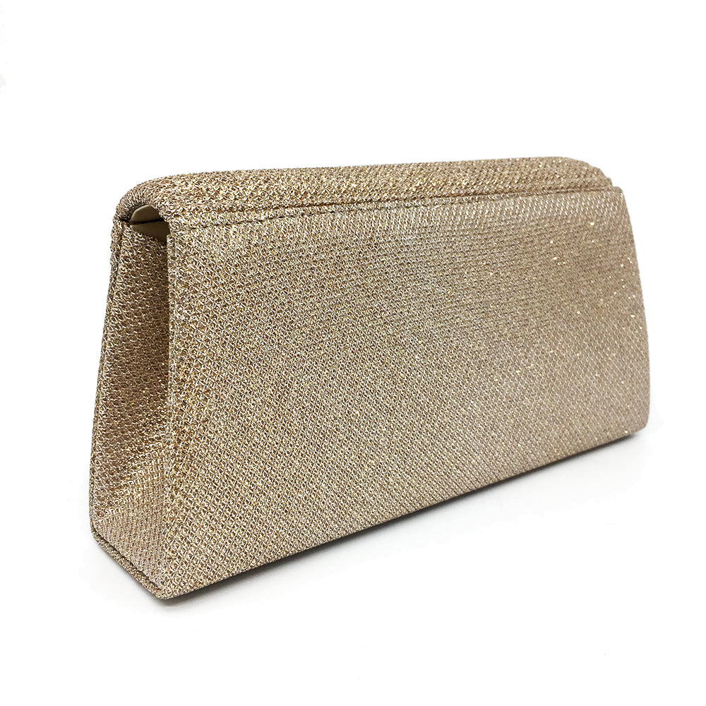 Sequined Shine Look Polyester Evening Bag With 8 Solid Colors
