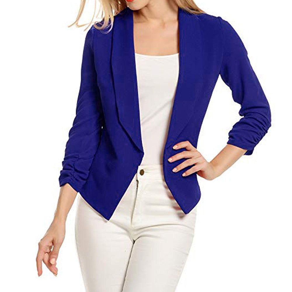 Spring Thin Slim Fit 3/4 Sleeve Office Ladies Coat