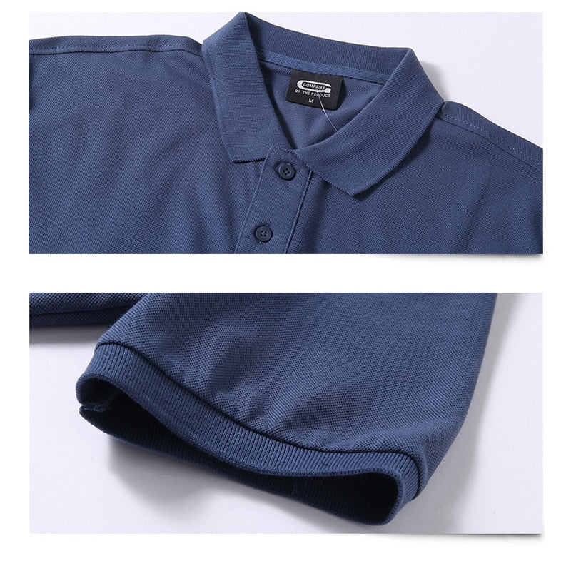 Pure Cotton Men Business Casual Men Polo Shirt