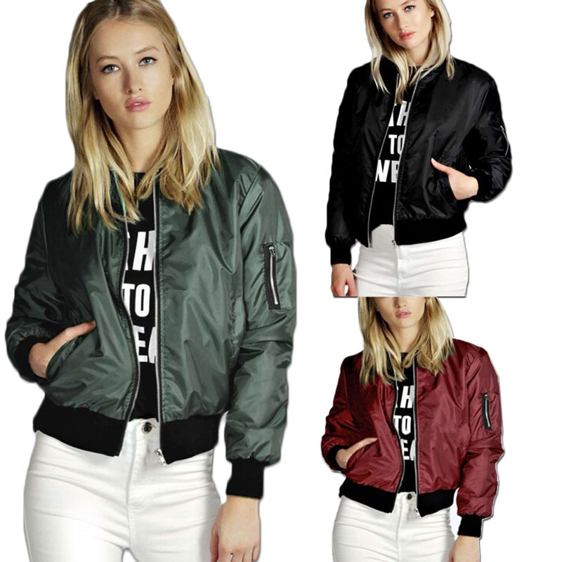 Fashion Women'S Jacket Spring Coats Long Sleeve Basic Jackets Bomber Thin Women'S Jacket Windbreaker Female Jackets Outwear - Sheseelady