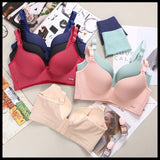High End Brand Romantic Temptation Bra Set Women Striped Underwear Set Push Up Seamless Lingerie Female Sets 90C
