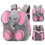 3D Elephant Design Student School Bags For Girls Boy