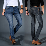 Casual Black Blue Slim Stretch Classic Denim Jeans - Sheseelady