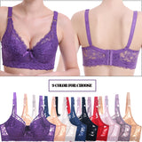 Plus Large Big Size Lace Bras For Women'S Bralette Bh Underwear Sexy Lingerie Super Push Up Brassiere Girl Minimizer Deep V