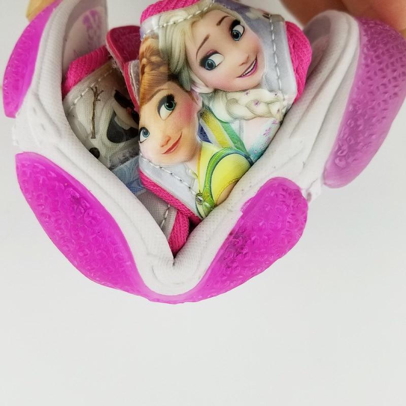 New Led Light Frozen Elsa And Anna Girls Sandals