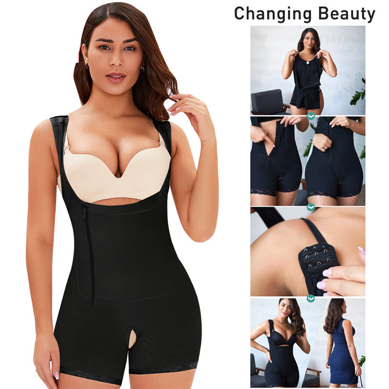 Shapewear for Women Tummy Control Shaper Zipper Hooks Open Bust Bodysuit Butt Lifter