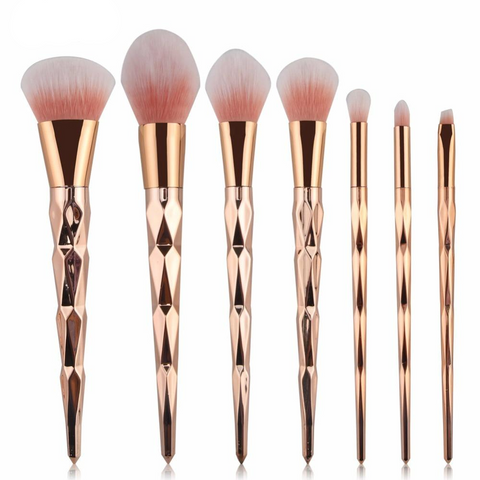 Powder Foundation Eye Shadow Blush Blending Makeup Brushes Set