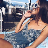 Strap Summer Jumpsuit Women Rompers Embroidery V Neck Zipper Elegant Jumpsuit Floral Playsuit Sexy Short Overalls