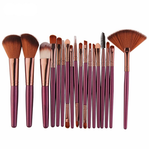 Cosmetic Powder Eye Shadow Makeup Brushes Tool Set