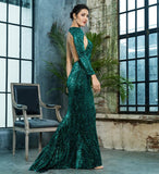 Love&Lemonade Open Back Separate Sleeve Elastic Sequins Long Dress LM81333-1 Autumn/Winter