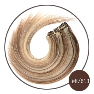 Brazilian Machine Made Remy Hair Natural Straight Clip - Sheseelady