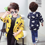 Cute Kids Outerwear Coats Print For Boys&Girls - Sheseelady