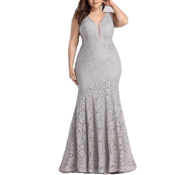 Sexy Wedding Guest Elegant Mermaid Lace Sleeveless Gowns