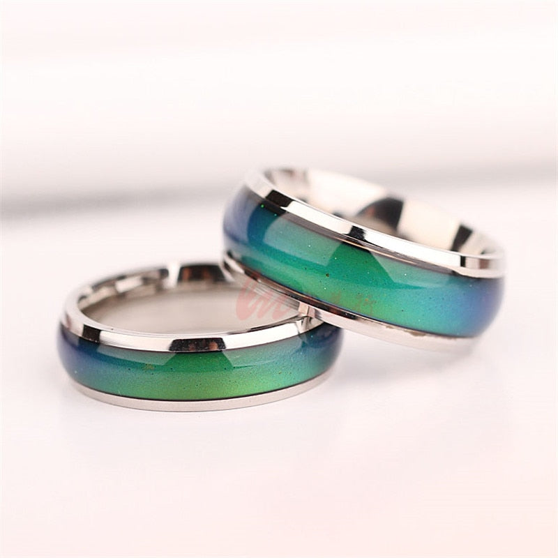 Fine Jewelry Mood Ring Color Change Emotion Feeling Mood Ring Changeable Band Temperature Ring - Sheseelady