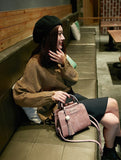 Pu Leather Casual & Trendy Tote Hand Holding With Crossbody Strap Bag