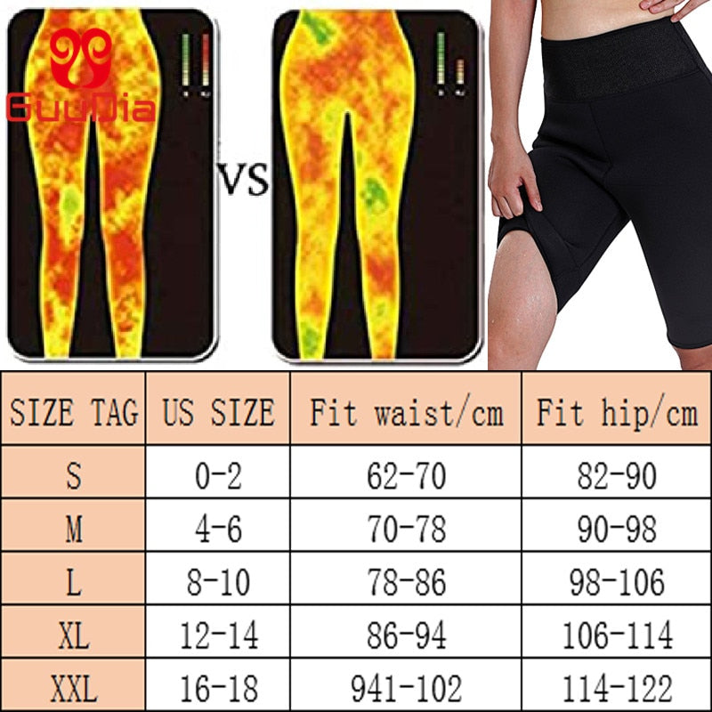 Women Sauna Hot Sweat Fat Burning Compression Slimming Leggings for Indoor Outdoor