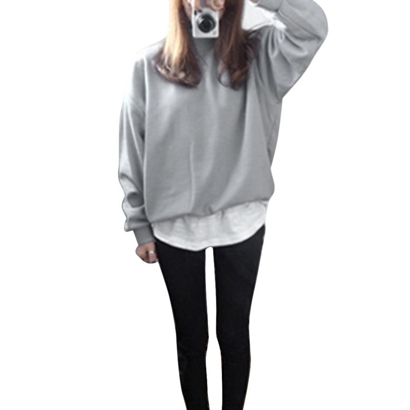 Casual Female Winter Loose Fleece Thick Knit Sweatshirt Hooded Pullover Tops Women Hoodies