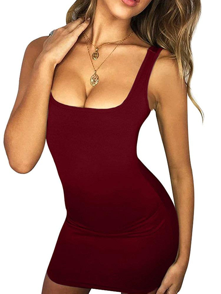 Sexy Summer Autumn Long Sleeve Sleeveless Mini Tank Club Dress For Females