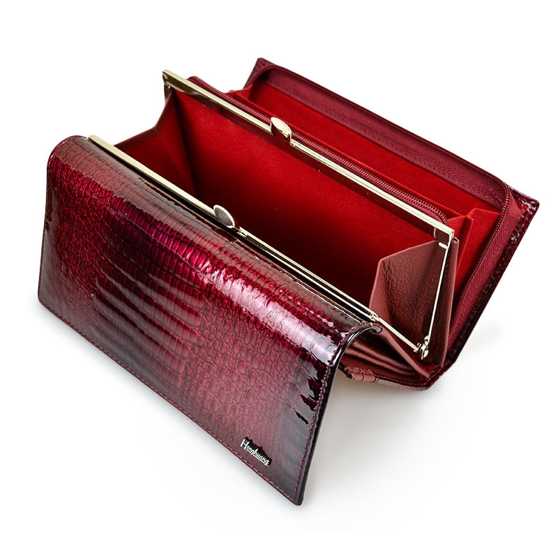Genuine Cow & Luxury Clutch With Zipper Wallet For Ladies - Sheseelady