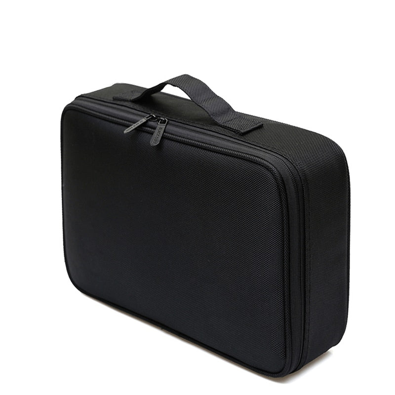 Nylon Black & Rose High Quality Travel Women Cosmetic Bag