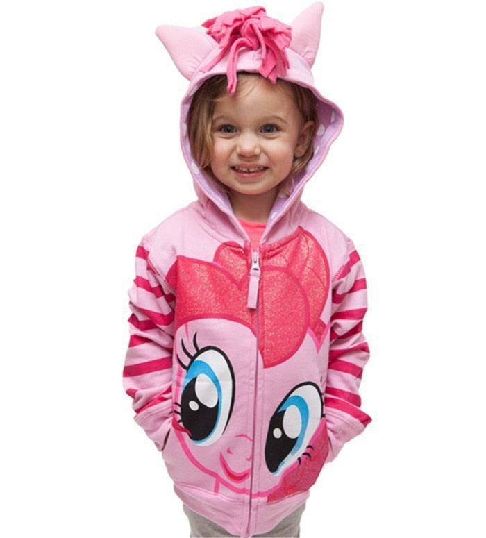 Pony Spring Casual Full Sleeve Hoodies For Girls Kids