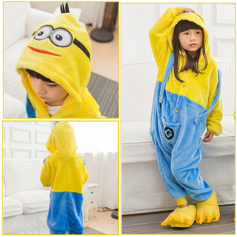 Children Unicorn Pajama Kid Baby Anime Overall Totoro Jumpsuit Onesie Funny Stitch Onepiece Animal Carnival Cosplay - Sheseelady