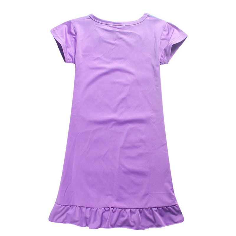 Printed Nightgown For Kids Girls