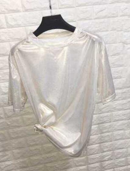 Sexy New Summer Retro Shiny Loose Short Sleeve T-Shirt