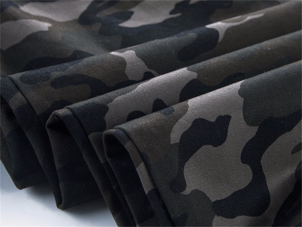 Cotton Mens Jogger Autumn Pencil Harem Pants Men Camouflage Military Pants Loose Comfortable Cargo Trousers Camo Jogger - Sheseelady