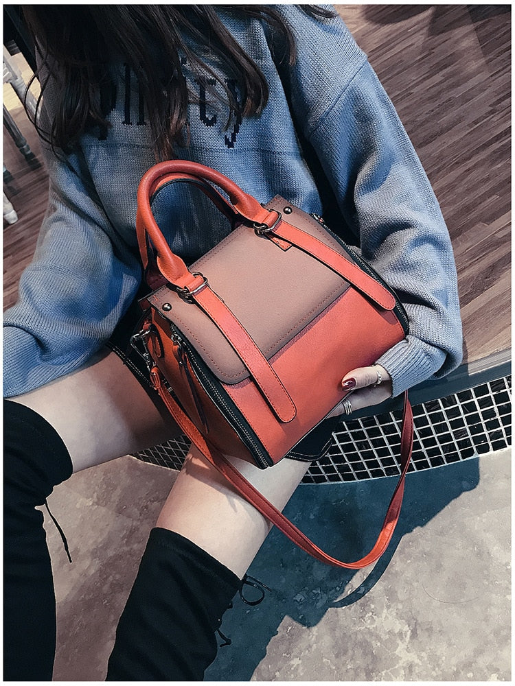 Vintage New Handbags For Women 2019 Female Brand Leather Handbag High Quality Small Bags Lady Shoulder Bags Casual