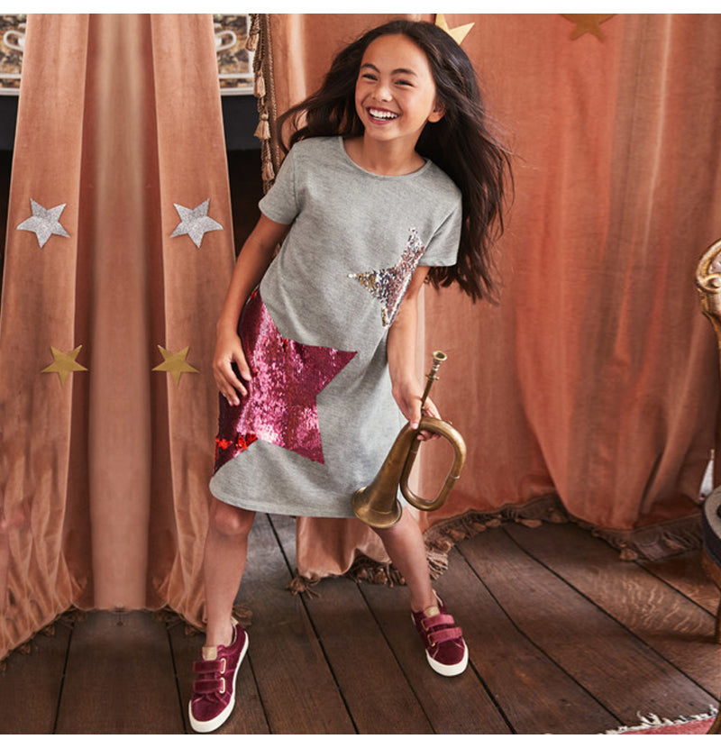 Change Sequin Girl Clothing Princess Dressess - Sheseelady