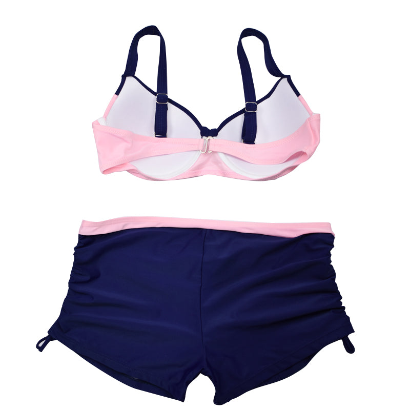 Swimwear Sexy Two Piece Bow Patchwork Bather Bikini