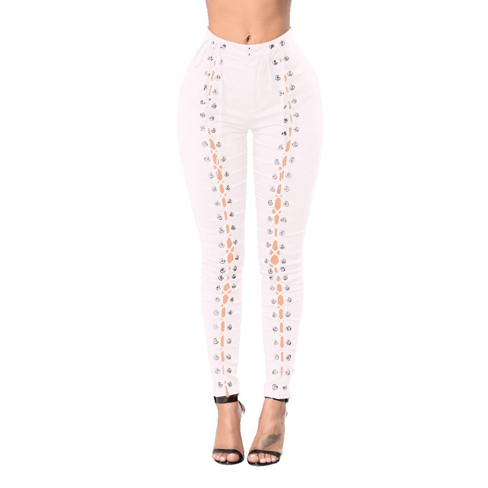 Casual Vintage Skinny Push Up High Waist Jeans Ripped Jeans For Women - Sheseelady