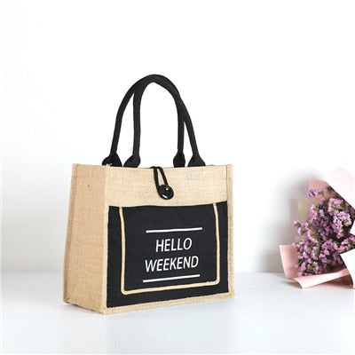 High Quality Women Linen Luxury Tote Large Capacity Female Casual Shoulder Bag Lady Daily Handbag Fresh Beach Shopping Bag - Sheseelady