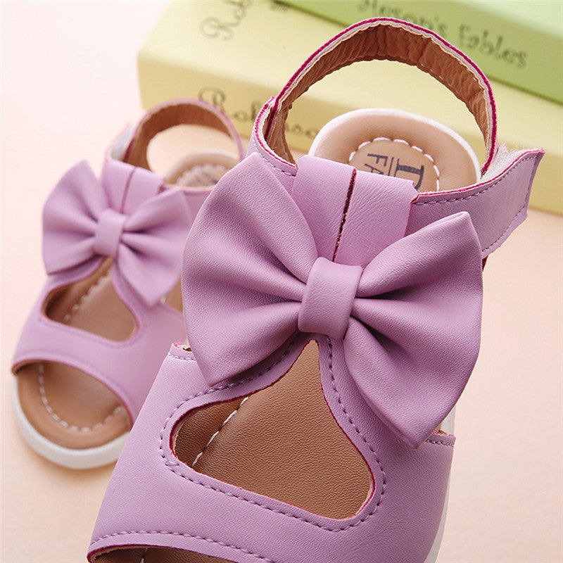 Bow-Knot Girls Flat Princess Toddler Sandals - Sheseelady