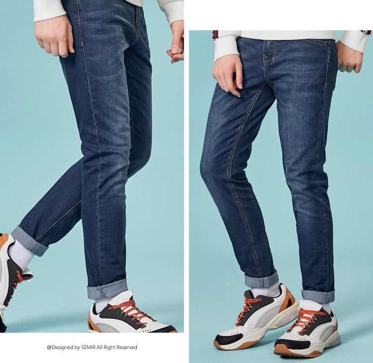 Jeans For Mens Slim Fit Pants Classic Jeans Male Denim Jeans Designer Trousers Casual Skinny Straight Elasticity Pants