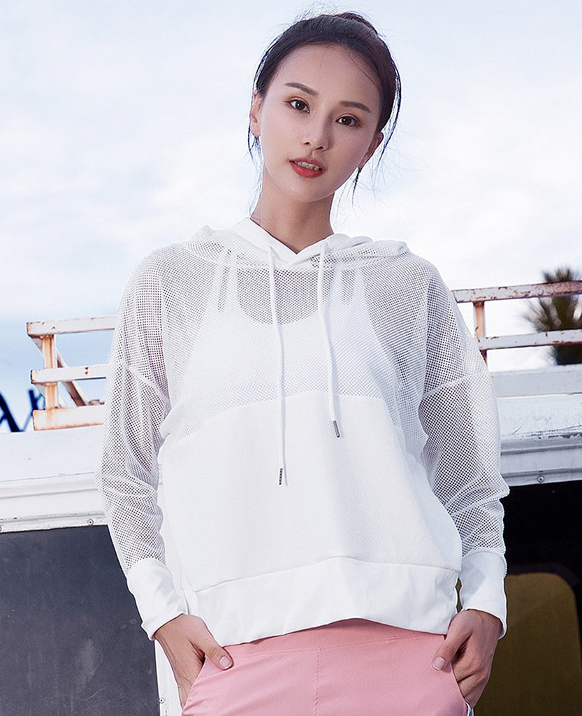 Mesh Sport Shirt For Women Yoga Top Quick Dry Fitness Sports Gym Long Sleeve Jacket Activewear