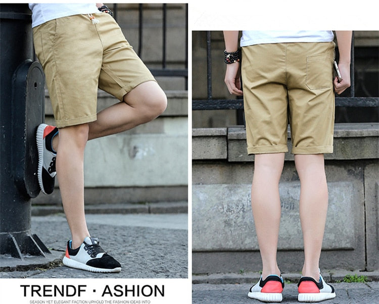New Shorts Men Casual Beach Shorts Homme Quality Bottoms Elastic Waist Fashion Brand Boardshorts Plus Size 5Xl