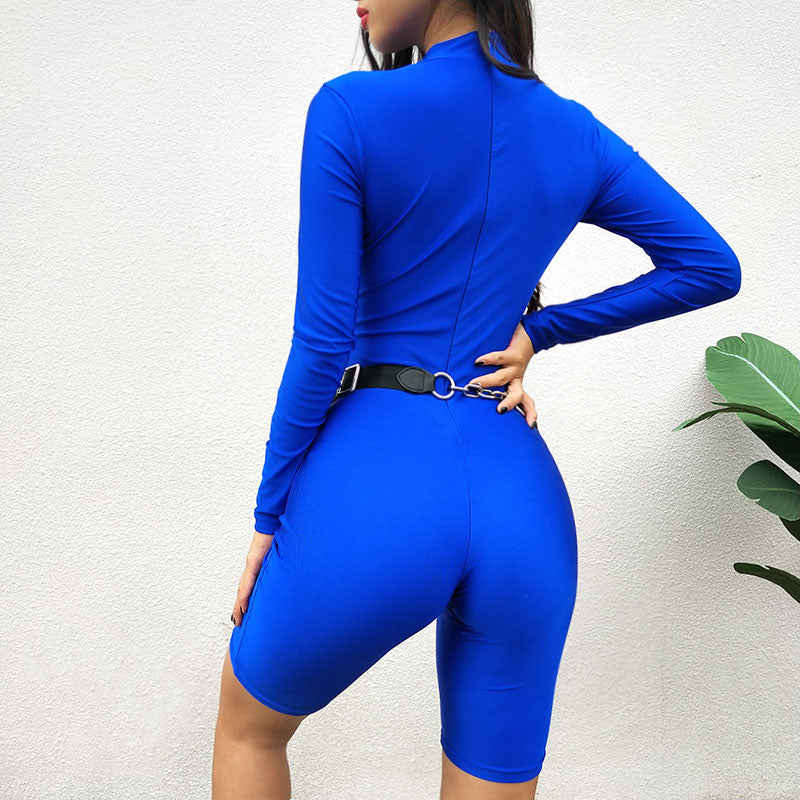 Women Bodysuits Solid Turtleneck Sexy Jumpsuits Long Sleeve Body Suit Bodycon Sheath Playsuit Bodysuit Elastic Clothing