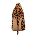 High Heels Leopard Shoes Women Pumps Office Lady Pointed Toe Flock Sexy 12 Cm Wedding Sapato Feminino - Sheseelady